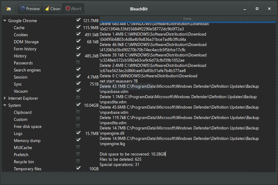 Windows 7 BleachBit 4.2.0 full